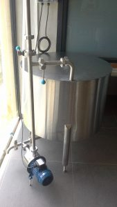 200l Mixing Holding Tank with pump