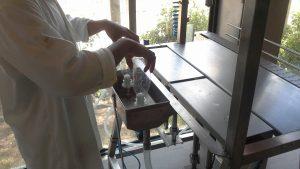 Semi-Automatic bottle rinser